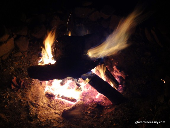 campfire, camping, self-care retreat