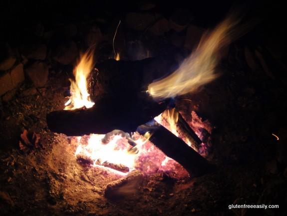 campfire, camping, self-care retreat
