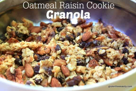 Oatmeal Raisin Cookie Granola at Gluten Free Easily