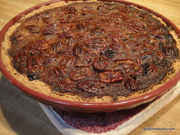 Pumpkin Pecan Pie. The best of both worlds!! [from GlutenFreeEasily.com] (photo)