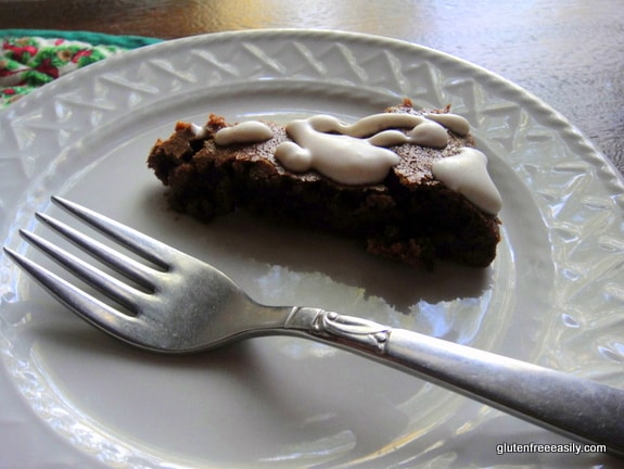 This gluten-free Crustless Fudge Pie is the Clark Kent of pies. Like Clark, it doesn't look overly impressive, but it has hidden super powers and is really a super dessert! A small sliver is rich in chocolate and perfectly satisfying. [from GlutenFreeEasily.com]