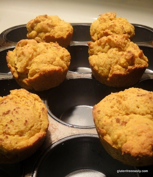 Gluten-Free Pumpkin Corn Muffins. If you like pumpkin muffins and you like corn muffins, you're going to love these muffins that are really the best of both those muffin worlds! [from GlutenFreeEasily.com] (photo)
