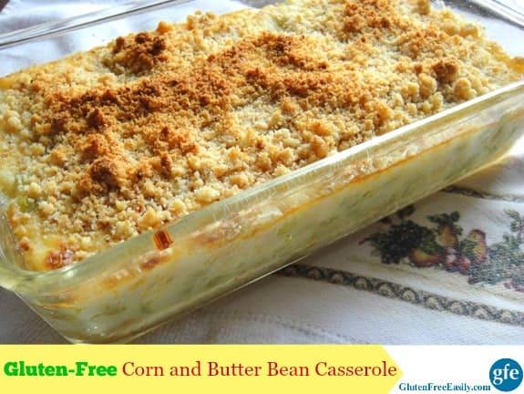 Gluten Free Corn and Butter Bean Lima Bean Casserole at Gluten Free Easily