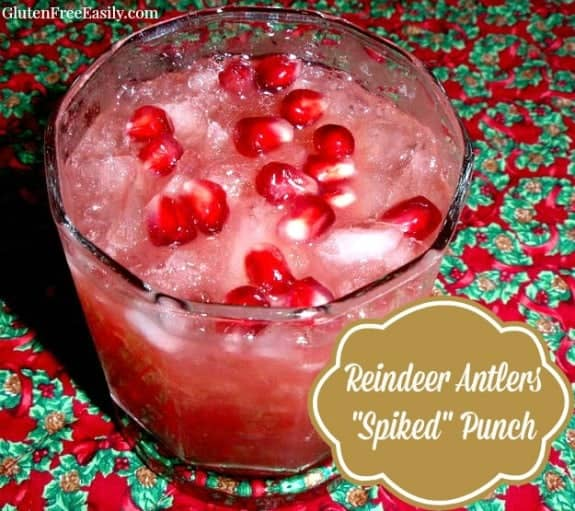 Reindeer Antlers Spiked Punch Gluten Free Easily