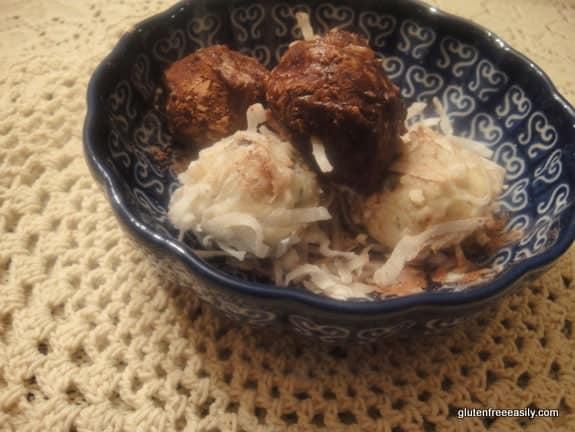 Almond Coconut Chocolate Truffles