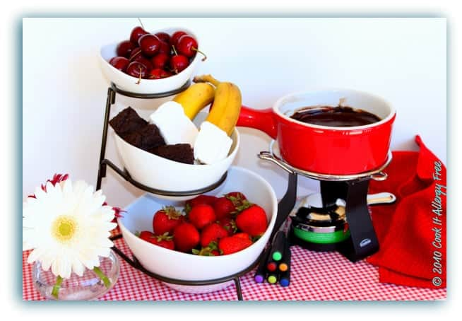 Chocolate Fondue (Gluten Free and Dairy Free)