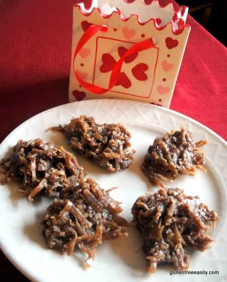No-Bake Almond Chocolate Double Coconut Cookies