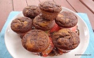 Gluten-Free Marble Cupcakes. The wonderful Vegan Chocolate Frosting really is optional. These cupcakes are great either way! We always eat them unfrosted, even for breakfast--like muffins. [featured on GlutenFreeEasily.com]