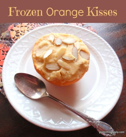 These Frozen Orange Kiss Desserts are the perfect way to end a special meal! Lovely and refreshing. Naturally gluten free, but loved by all. [from GlutenFreeEasily.com]