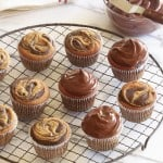 Marble Cupcakes and Vegan Chocolate Frosting