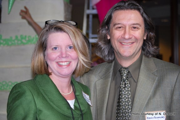 Dr. Delise Dickardmeets Dr. Alessio Fasano at the Gluten-Free Labeling Summit in 2011