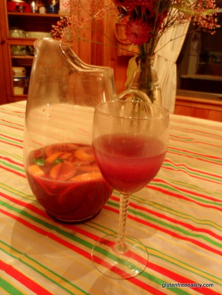 Homemade Sangria is the best! It's an expensive way to serve a group at celebrations like Cinco de Mayo, New Year's, summer events, and more. [from GlutenFreeEasily.com] (photo)