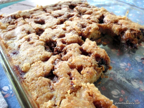 A light and delicious gluten-free, vegan blueberry banana buckle. Perfect for breakfast, dessert, or a snack. (photo)