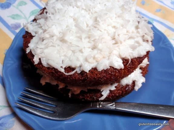 Gluten-Free, Dairy-Free Pineapple Layer Cake with Maple Coconut Whipped Cream Frosting