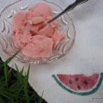gluten free, dairy free, ice cream, sherbet, watermelon, summer, 4th of July