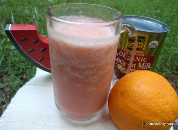 Good Morning, Sunshine! Watermelon Orange Smoothie. This three-ingredient smoothie not only gives you a reason to wake up; it helps you to wake up! [from GlutenFreeEasily.com]