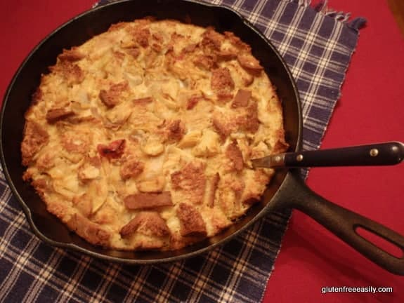 Savory Lemon-Kissed, Sun-Dried Tomato Artichoke Chicken Clafoutis (Gluten Free)