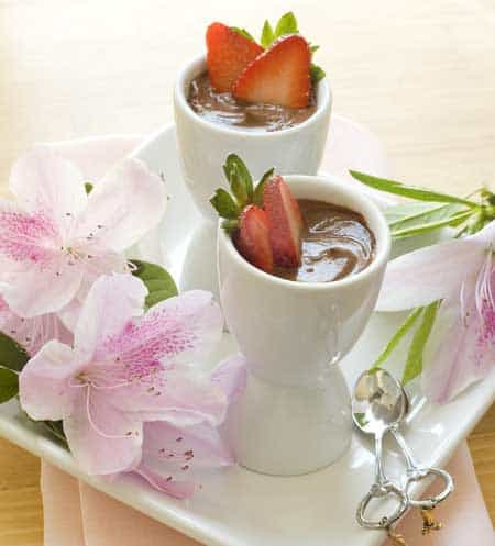 Chocolate Pots de Creme. A fabulous gluten-free, dairy-free dessert. [featured on GlutenFreeEasily.com]