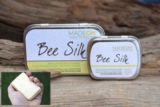 MadeOn Skin Care, hard lotion, Bee Silk, coconut oil, shea butter, beeswax, giveaway