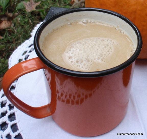 pumpkin spice latte, gluten-free pumpkin spice latte, coffee-free pumpkin spice latte, gluten free, dairy free, refined sugar free, vegan, beverage, pumpkin recipe, pumpkin butte