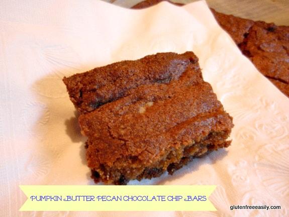 Piece Gluten-Free Pumpkin Butter Pecan Chocolate Chip Bars Grain Free Paleo