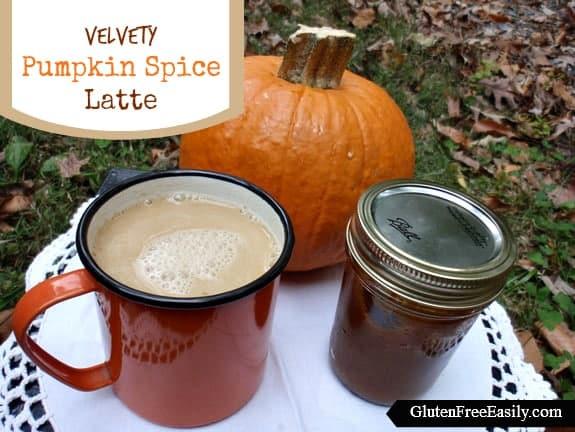 Velvety Gluten-Free Dairy-Free Pumpkin Spice Latte Gluten Free Easily