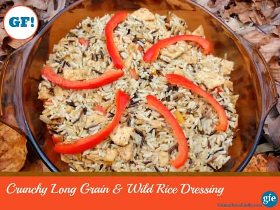 Gluten-Free Crunchy Long Grain and Wild Rice Dressing Gluten Free Easily