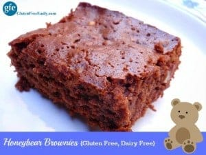 Any time is a good time for gluten-free Honeybear Brownies! Gluten free, dairy free, and ready in 20 minutes. Go ahead ... satisfy your chocolate craving!