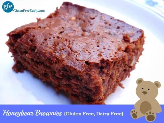 Gluten-Free Honeybear Brownies. Dairy free, too. Go ahead and indulge your chocolate craving! [from GlutenFreeEasily.com]