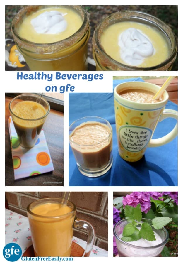 Healthy Dairy-Free Beverages on gfe. [from GlutenFreeEasily.com]