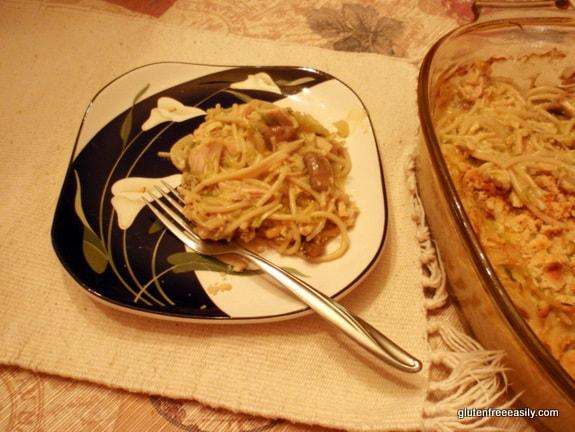 Gluten-Free Turkey Tetrazzini --Great Way to Use Turkey (or Chicken) Leftovers [from GlutenFreeEasily.com]