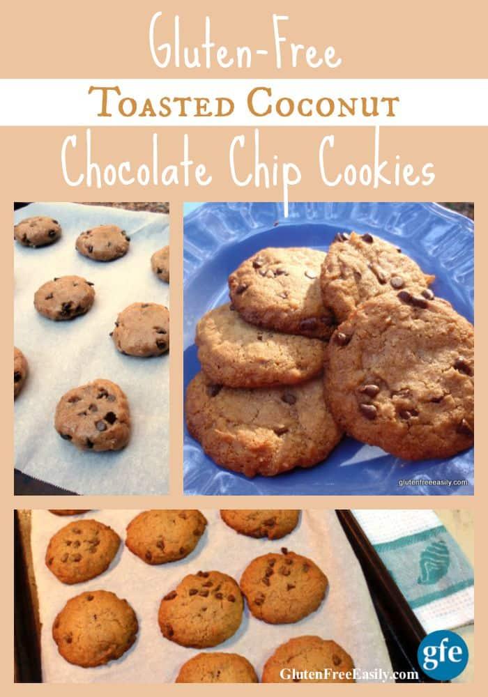 "Toasted Coconut Chocolate Chip ""Samoa""-Taste Cookies - Gluten-Free, Grain-Free, Dairy-Free, Egg-Free, Vegan at Gluten Free Easily"