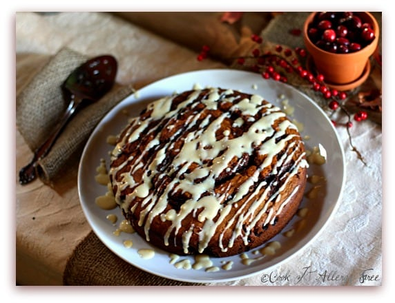This Cinnamon Bun Cake from Cook IT Allergy Free is delightful! One of many fabulous Gluten-Free Mother's Day Brunch Recipes!