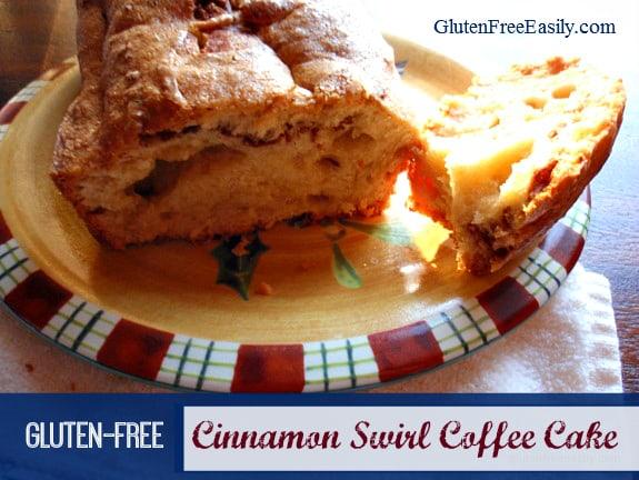 Gluten-Free Cinnamon Swirl Coffee Cake from Gluten Free Easily