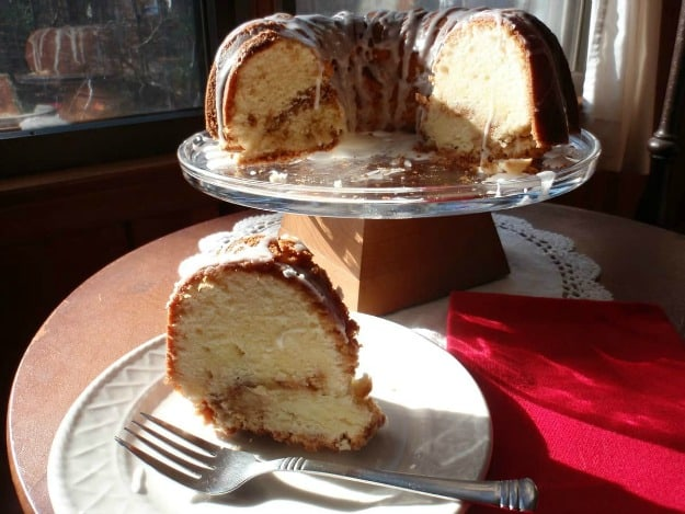 Gluten-Free Cream Cheese Pound Cake with Streusel Filling. [from GlutenFreeEasily.com]