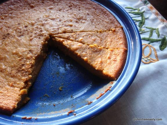Crustless Sweet Potato Pie (Gluten Free, Dairy Free) from Gluten Free Easily