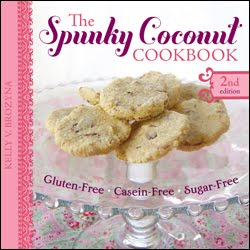 gluten free, dairy free, casein free. Kelly Brozyna, The Spunky Coconut, cookbook, giveaway
