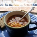 Pantry Black Bean, Corn, and Salsa Soup with Gluten-Free, Grain-Free, Paleo Bread