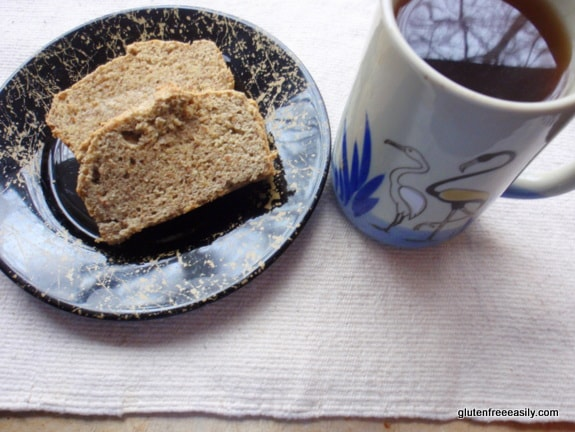 bread, gluten free, dairy free, grain free, sugar free, quick and easy, paleo, primal, good earth sweet and spicy tea