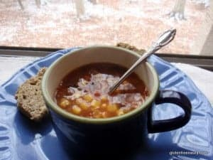 Black Bean, Corn, and Salsa Soup