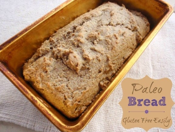 Paleo Bread--Gluten-free, grain-free, dairy-free, refined sugar-free goodness. [from GlutenFreeEasily.com]