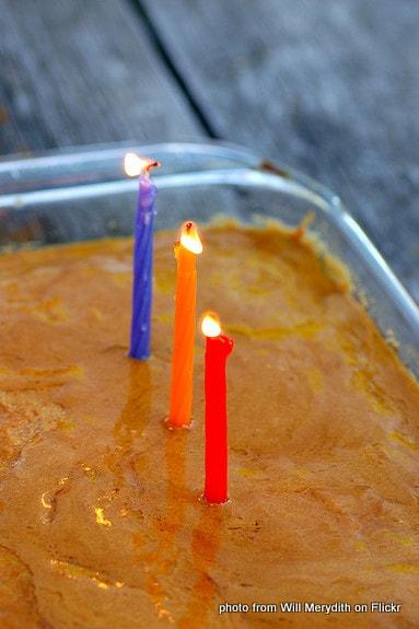 birthday cake, birthday candles, three-years old, celebration, anniversary