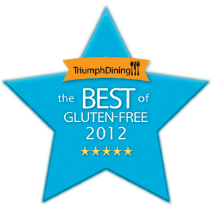 triumph dining, best of gluten-free awards, 2012, best gluten-free blogger