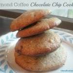 Hello! Chocolate Chip Cookies just got a whole lot better! Grain-free Almond Coffee Chocolate Chip Cookies