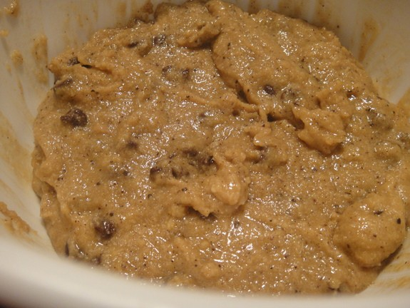Almond Coffee Chocolate Chip Cookies (dough) at Gluten Free Easily
