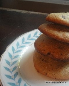 Gluten-Free Almond Coffee Chocolate Chip Cookies