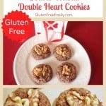 Double Chocolate, Double Walnut, Double Heart Cookies