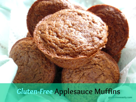 My very favorite way to use applesauce! Gluten-Free Applesauce Muffins, loved by family and guests alike. [from GlutenFreeEasily.com]