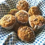 "Gluten-Free Banana Maple Nut Chocolate Chip Muffins. Proclaimed ""the best muffins ever"" by one of my friends! Shown made with chocolate chips. [fromGlutenFreeEasily.com]"