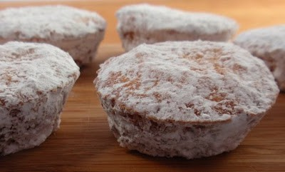 Elizabeth Barbone's Gluten-Free Powdered Sugar Donut Muffins at Gluten Free Easily